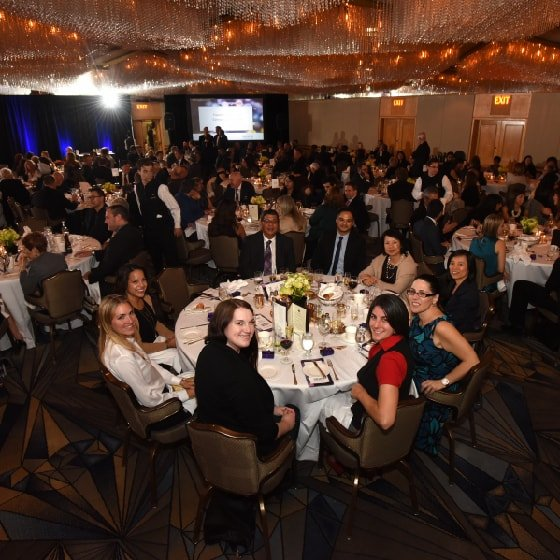 The crowd enjoying some drinks at the 2017 gala