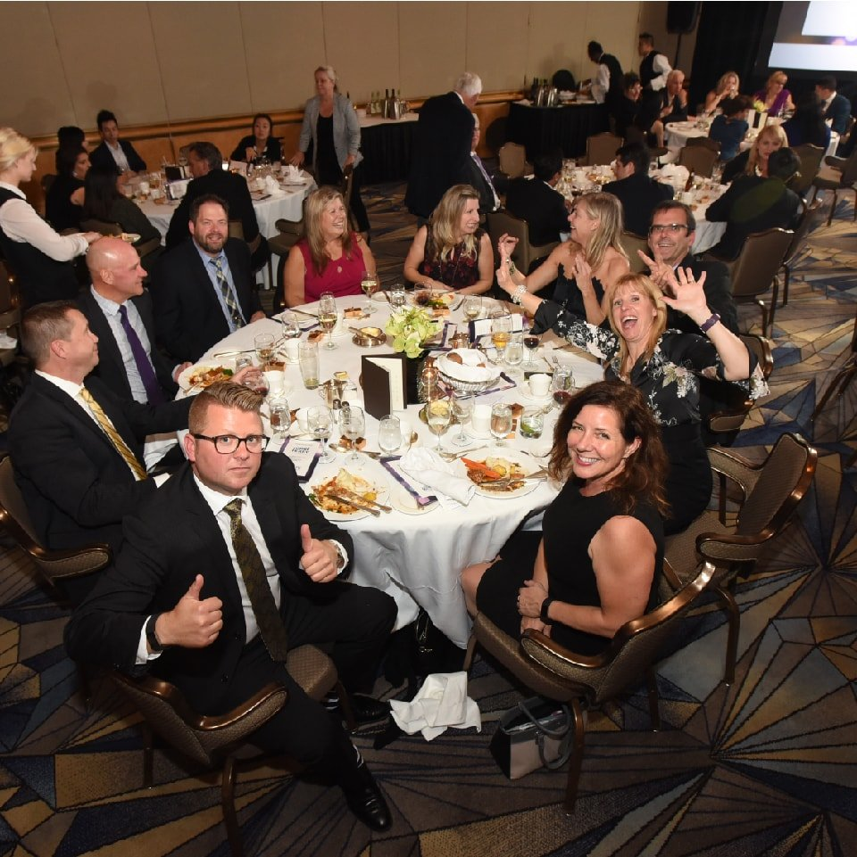 Salute BC sponsors celebrating at the 2017 Gala